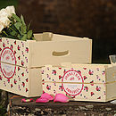 Personalised Wedding Vintage Small Crate