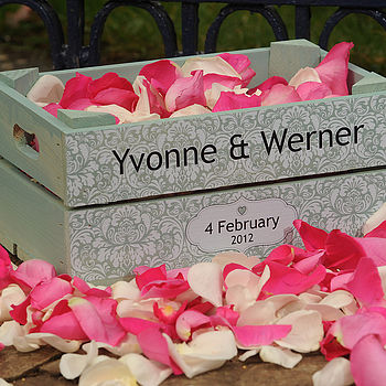 Personalised Wedding Floral Small Crate