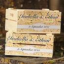 Personalised Wedding Roses Small Crate