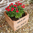 Personalised Anniversary Square Planter Crate