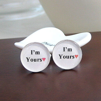 'I'm Yours' Personalised Cufflinks