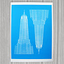 Empire State Screen Print