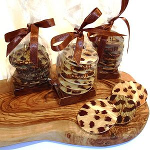 Leopard Print Posh Drops - wedding favours