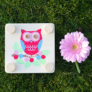 Flower Press Owl Design