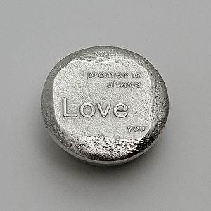 Small Cast Pewter Message Box - keepsake boxes