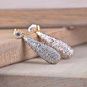 Vintage Style Teardrop Rhinestone Earrings - earrings