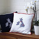 Embroidered UK and Ireland Cushions