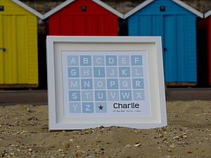 Alphabet Block Baby Personalised Print - gifts for babies