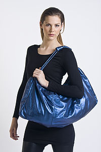 Lakota Hobo Bag Metallic Blue
