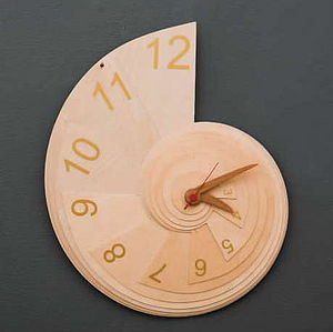 Golden Spiral Clock - dining room