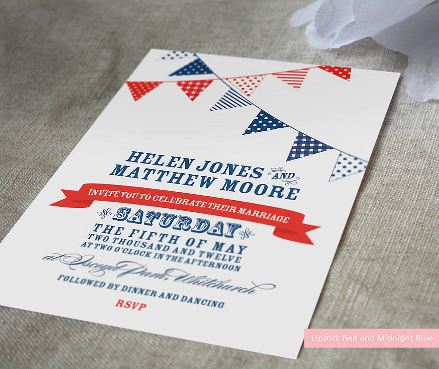 Bunting Wedding Invite: Bunting Wedding Invitation By Project Pretty