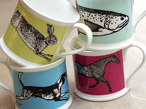Colour Animal Mug Collection - crockery & chinaware