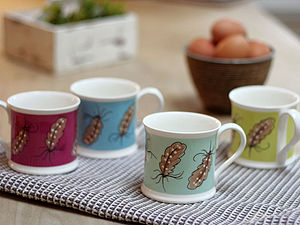 Floating Feather Mug Collection - crockery & chinaware