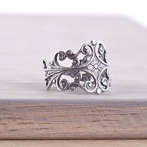 Filigree Adjustable Ring - rings