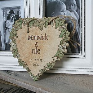 Secret Garden Personalised Wedding Heart - signs