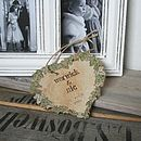 Secret Garden Personalised Wedding Heart