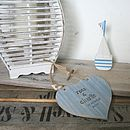 Beach Style Personalised Wedding Heart