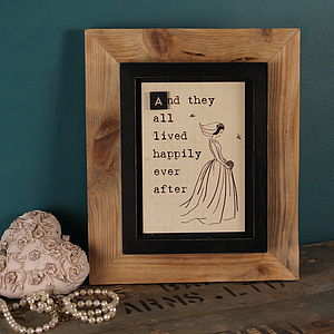 'Happily Ever After' Framed Print