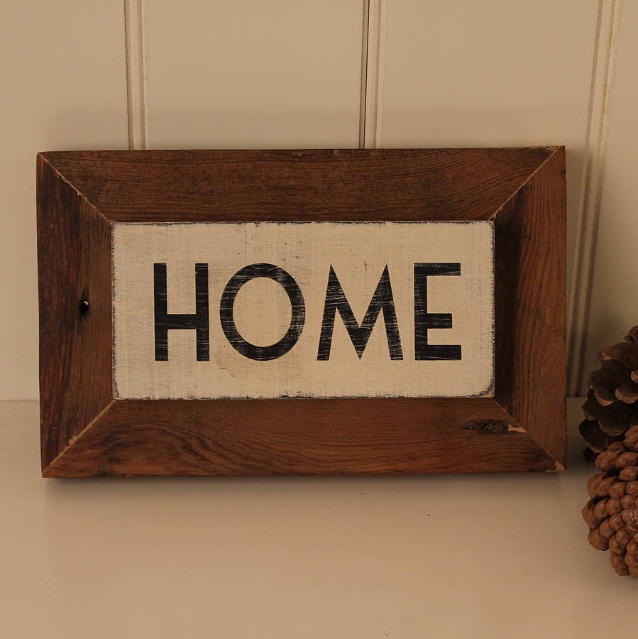 39 Home 39 Reclaimed Wooden Sign By M A Design