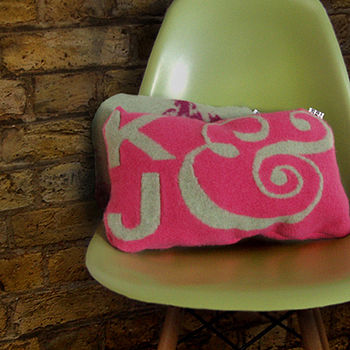 Personalised Knitted Cushion