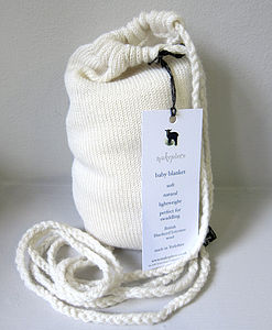 Pure Wool Baby Shawl And Carry Bag - bed linen & cot bedding