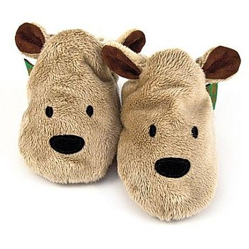 Childrens Brown Bear Slippers