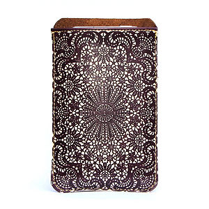 Lace Leather Phone Sleeve - bags & purses