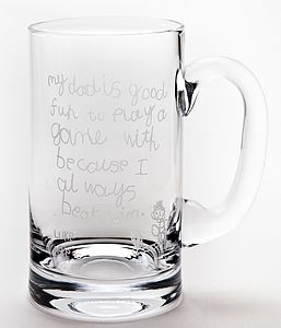 Personalised Engraved Glass Tankard - drink & barware
