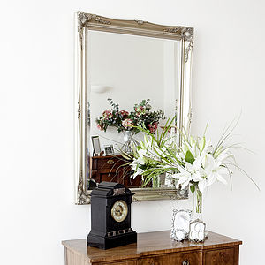 Simple Classic French Silver Mirror - bedroom