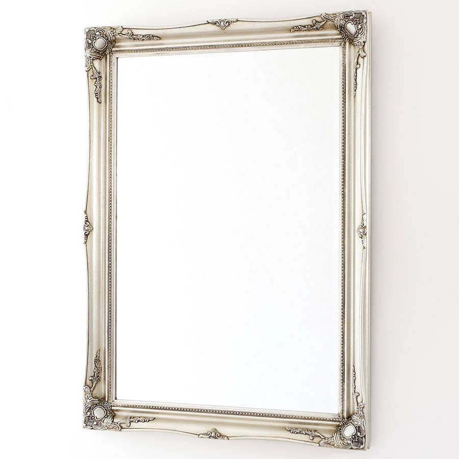 simple classic french silver mirror by decorative mirrors