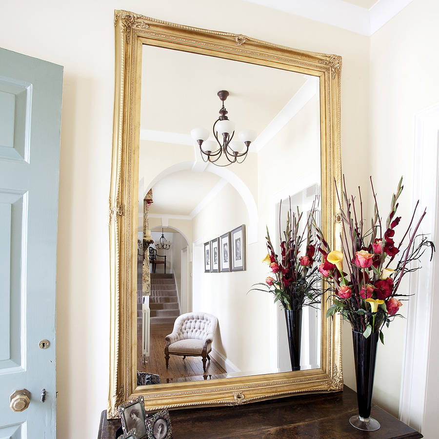 finely ornate gold mirror by decorative mirrors online ...