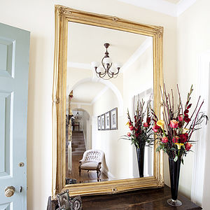 Finely Ornate Gold Mirror - mirrors