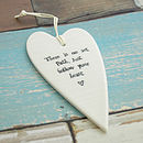 White Ceramic heart - No set path ...