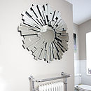 All Glass Round Contemporary Mirror