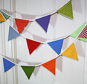 Patterned Party Bunting - room decorations