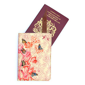 Springtime Leather Passport Case - passport & travel card holders