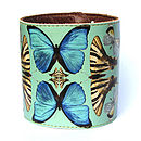 Butterflies Leather Cuff