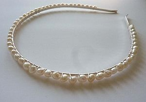 Pearl Tiara Headband - bridal hairpieces