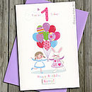 First Birthday Or Pick Your Age Personalised Card