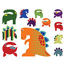 Patterned Dinosaurs Wall Sticker Set