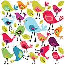 Birds Wall Sticker Set
