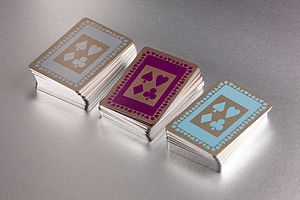 Limited Edition Double Box Silver Gilt Cards