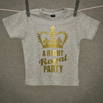 Limited Edition 'Right Royal Party' T Shirt