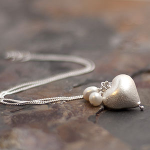 Rosaline Silver Heart Necklace - jewellery sets