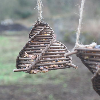 Hand Woven Willow Bird Feeder
