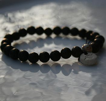 Personalised Black Wish Bracelet
