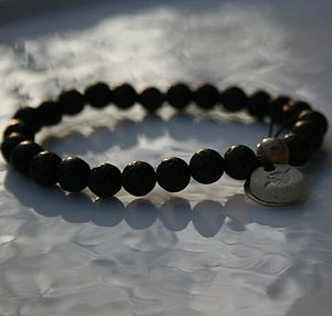Personalised Black Wish Bracelet - men's jewellery