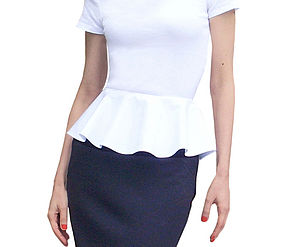 Detachable Cotton Poplin Peplum - women's fashion
