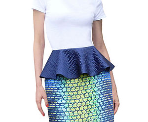 Detachable Silk Peplum - skirts & shorts