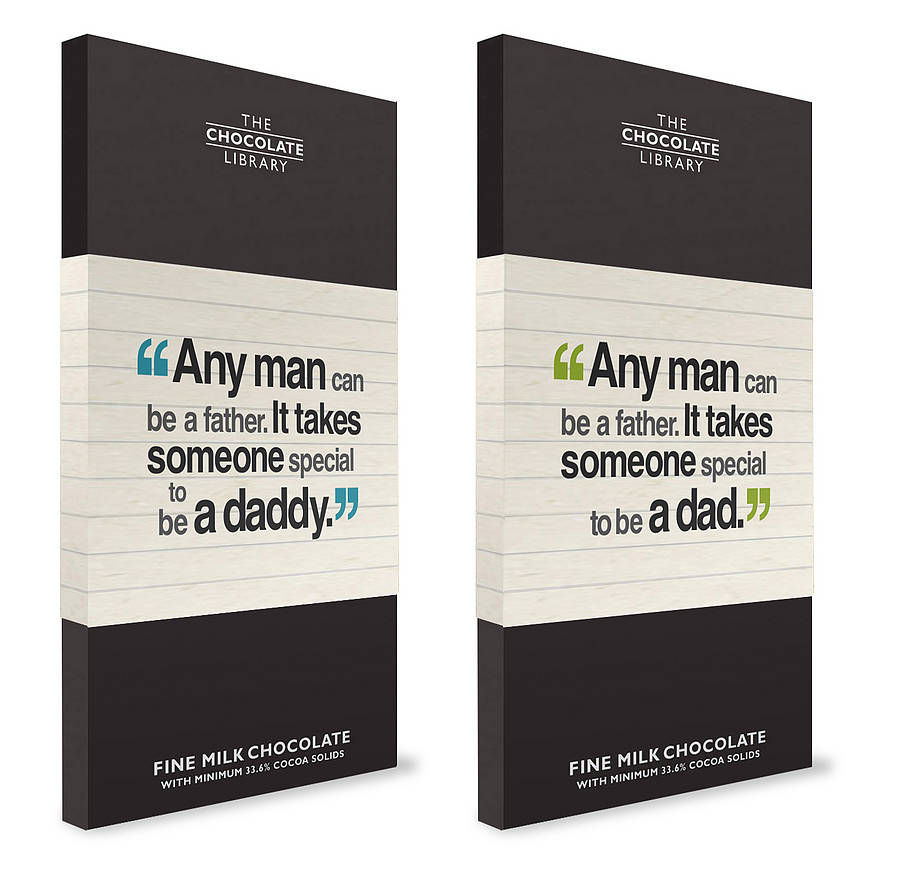 Personalised Dad Quote Chocolate By Quirky Gift Library